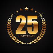 Template symbol 25 Years Anniversary Vector Illustration