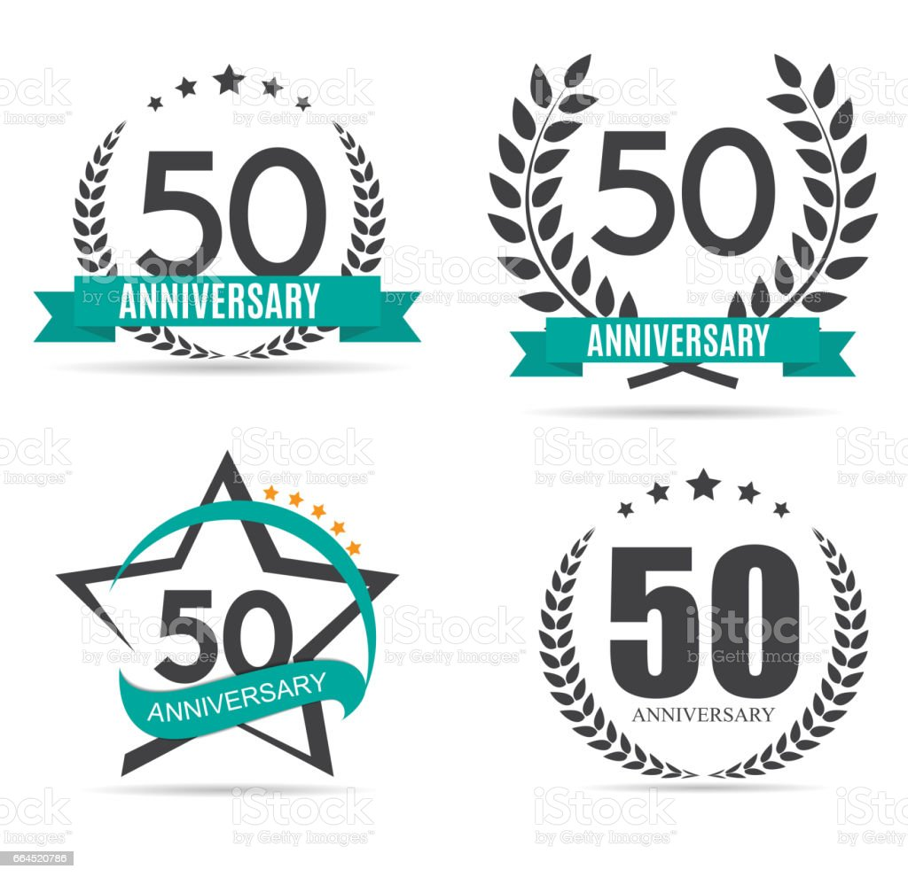 Modele Symbole 50 Ans Anniversaire Vector Illustration Cliparts
