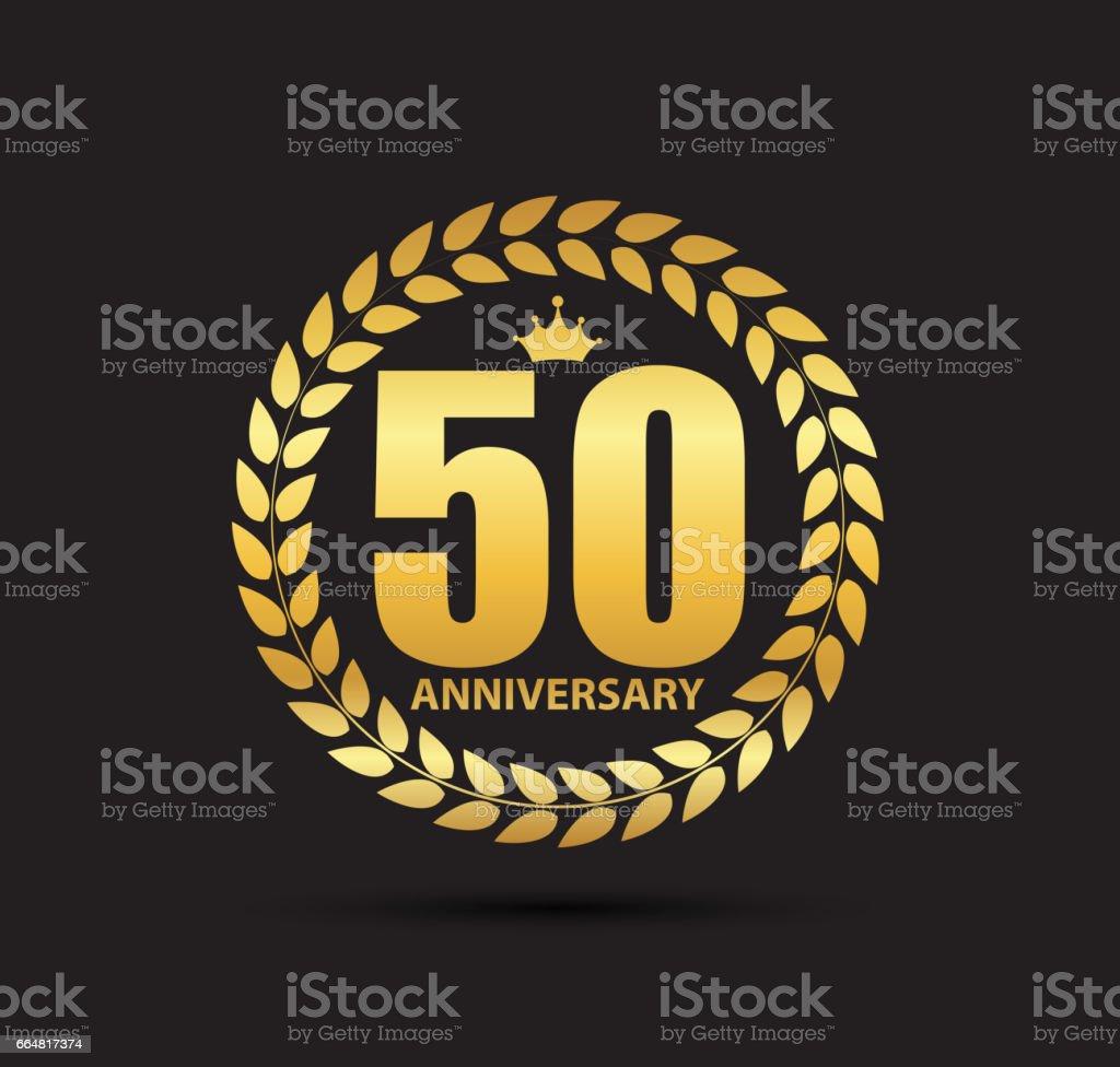 Modele Symbole 50 Ans Anniversaire Vector Illustration Cliparts