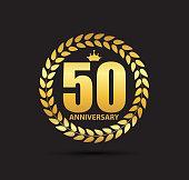 Template symbol 50 Years Anniversary Vector Illustration
