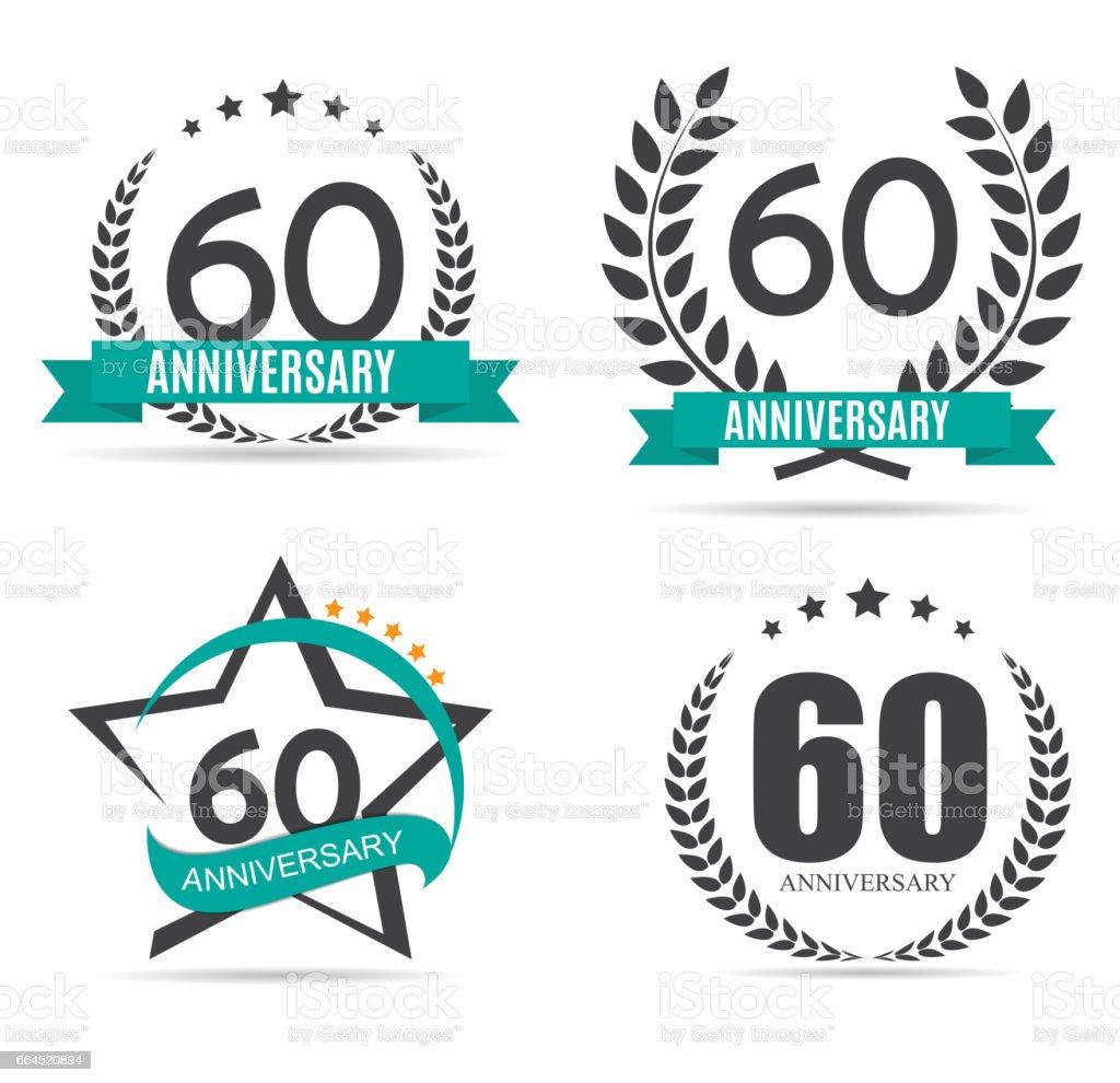 Template symbol 60 Years Anniversary Vector Illustration vector art illustration