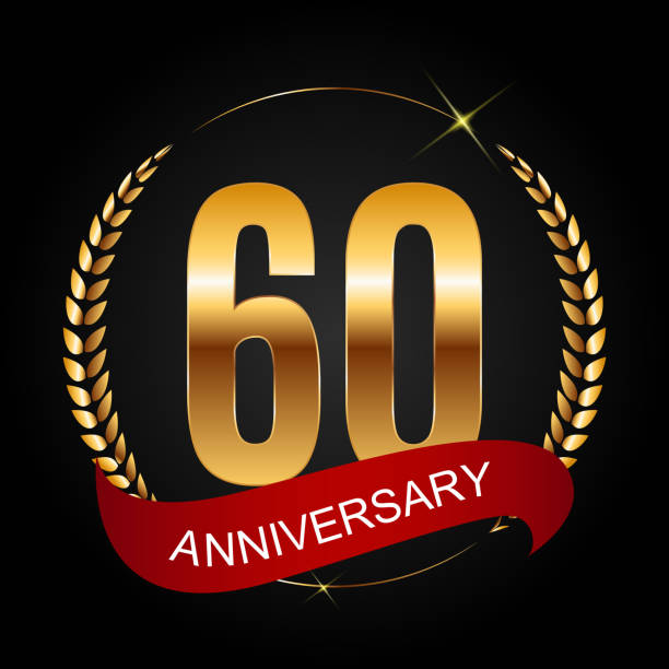 Royalty free 60th anniversary clip art vector images for 60 wedding anniversary symbol