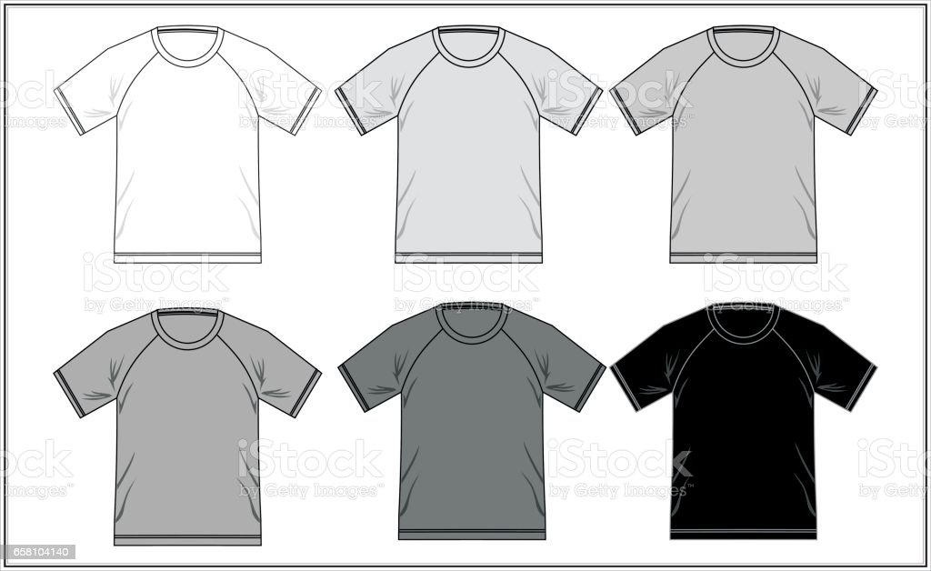 Template T Shirt Raglan Black and White royalty-free template t shirt raglan black and white stock vector art & more images of adult