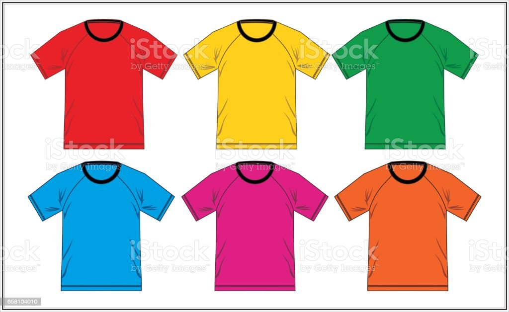 Template T Shirt Raglan royalty-free template t shirt raglan stock vector art & more images of adult