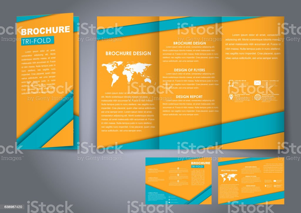 template triple folding brochures stock vector art 638987420 istock