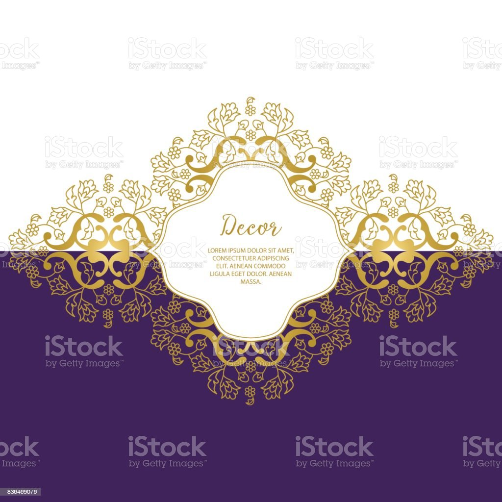 Template Vector decorative frame. vector art illustration