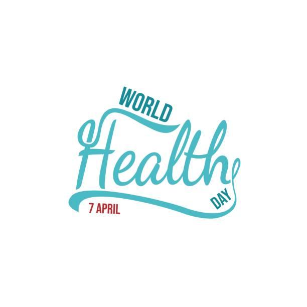 Template World health day vector illustration. World Health Day vector typography lettering logo design vector world health day stock illustrations