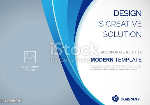 Template vector design for Brochure, Annual Report, Web design  Poster, Corporate Presentation, Flyer, layout modern  size horizontal, Easy to use and edit.
