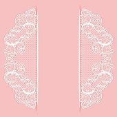 Template wedding invitation or greeting card. Lace background. Vector illustration.