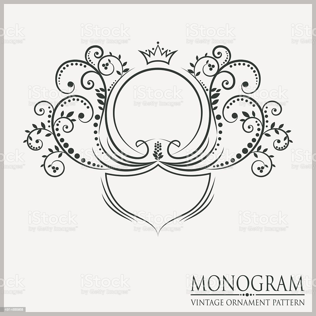 Template wedding monograms stock vector art more images for Free monogram template