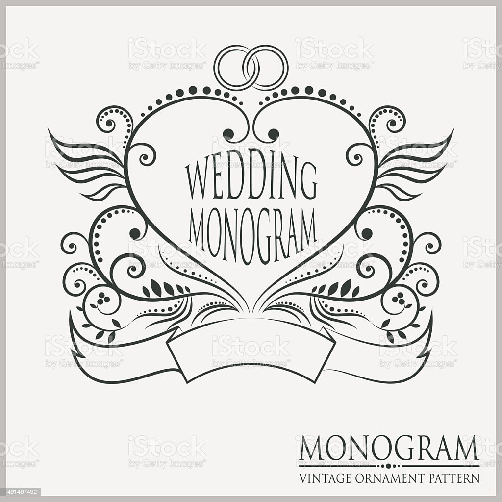 Template Wedding Monograms Stock Vector Art & More Images of 2015 ...