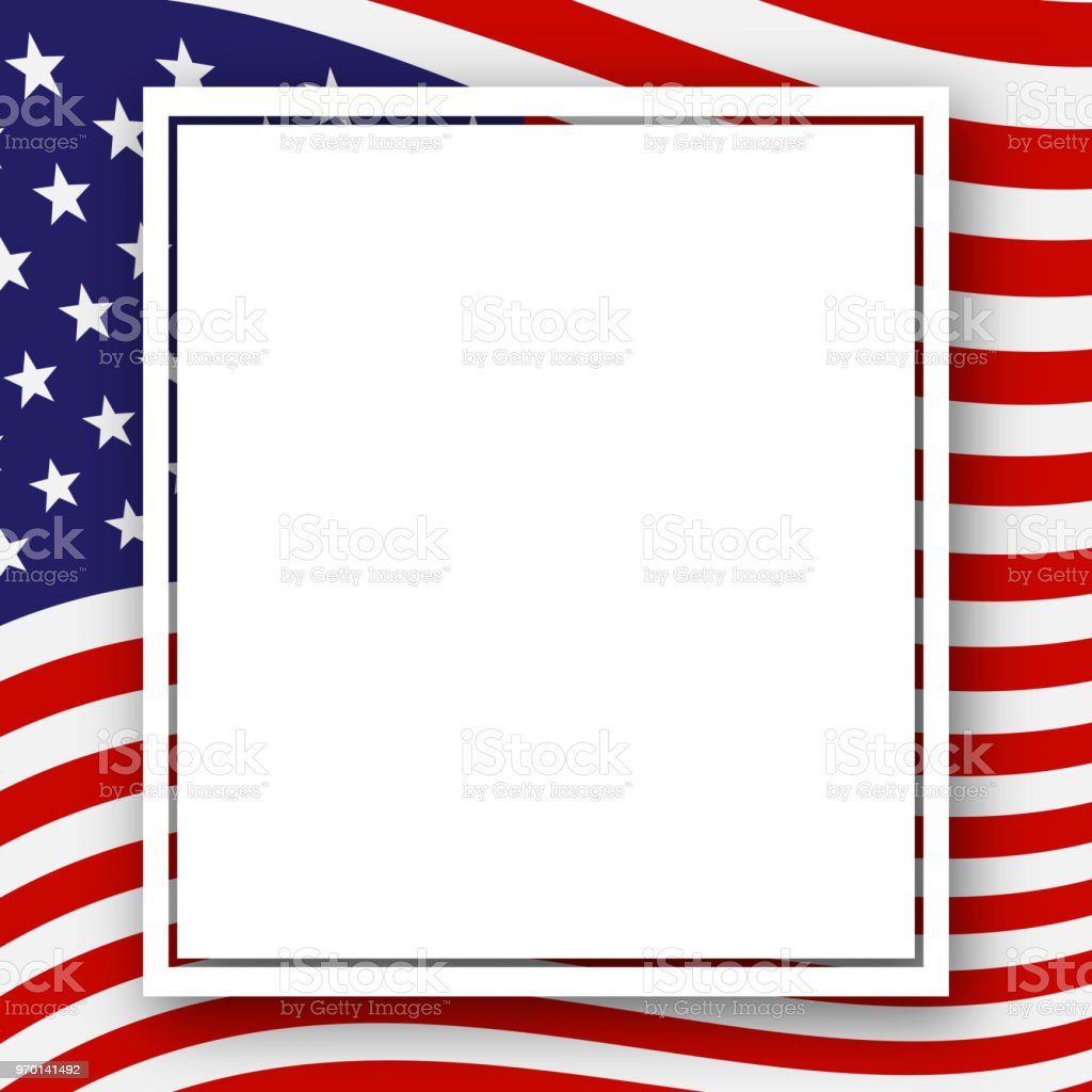 template with a pattern of stars and stripes of colors of the