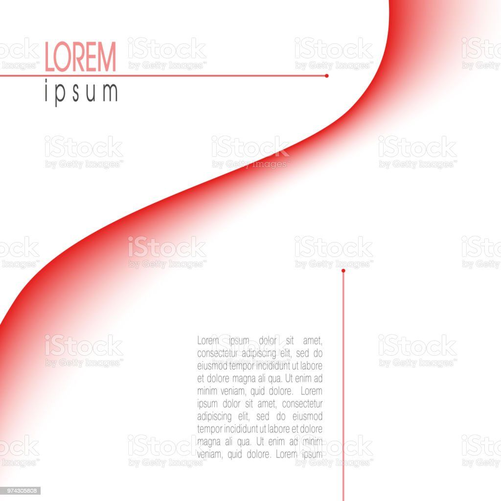 Template with abstract red waveform. Minimal vector background. Modern layout for books, brochures, magazines, posters, leaflets, flyers, presentations, infographic, web pages. EPS10 illustration vector art illustration