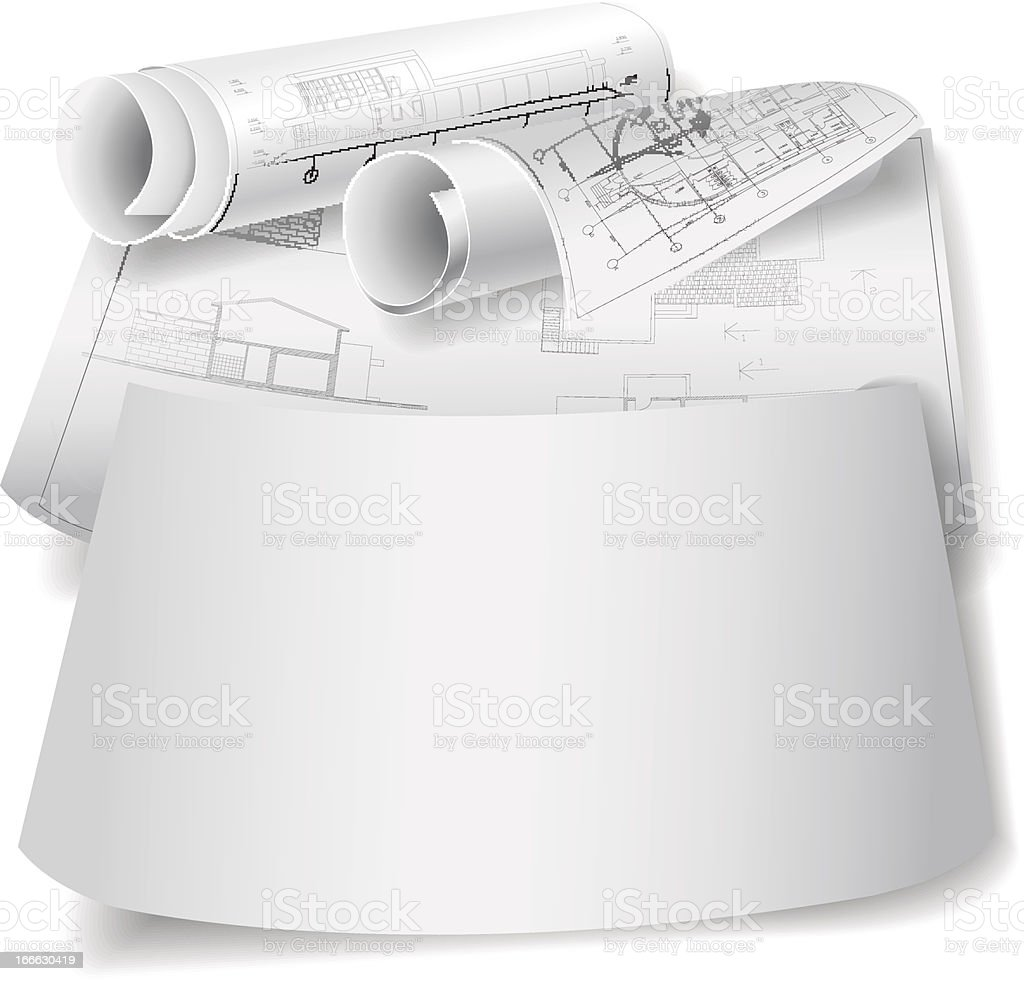 Template with architectural design elements royalty-free stock vector art