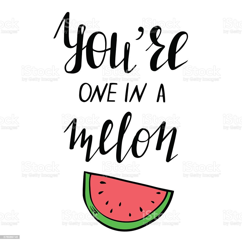 template with lettering and watermelon stock vector art 576589746