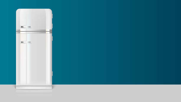 Retro Kühlschrank Ch : Retro kühlschrank vektorgrafiken und illustrationen istock