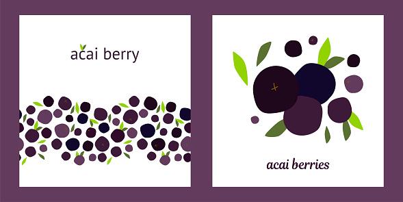 templates acai berries