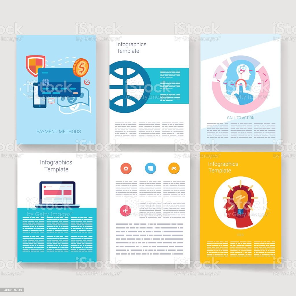 templates design set of web mail brochures mobile technology infographic