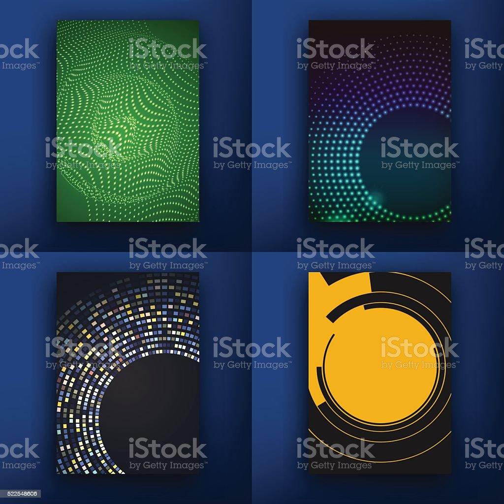 Templates. Design Set of Web, Mail, Brochures. Mobile, Technology,...
