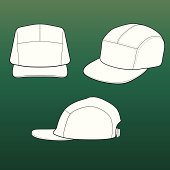 Templates for 5-panel (patrol/field) caps