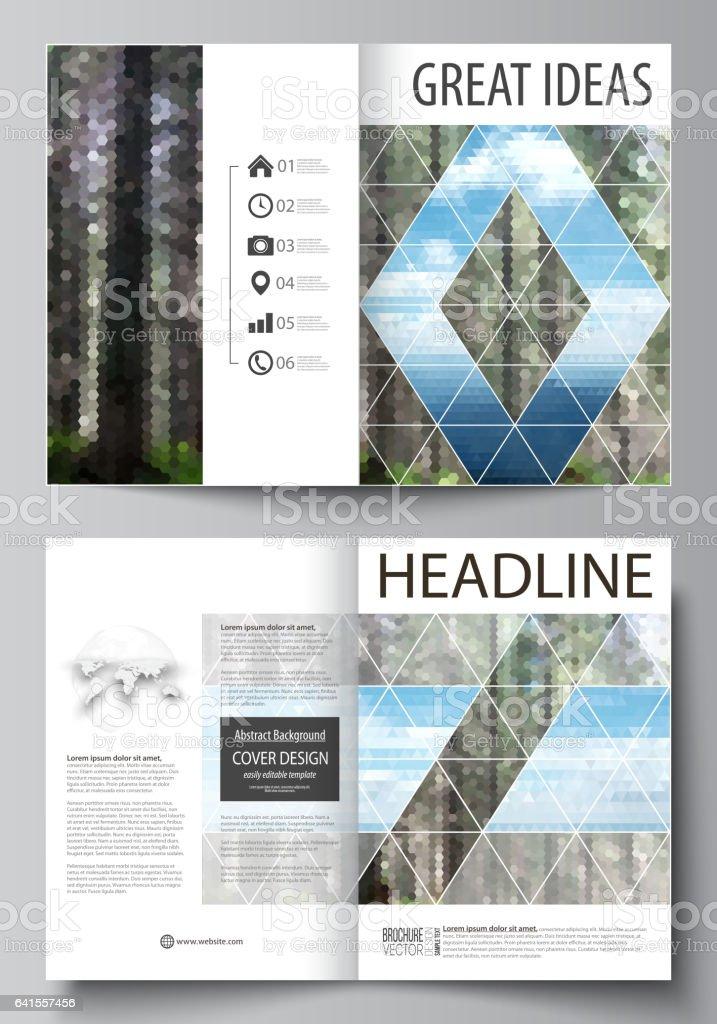 templates for bi fold brochure flyer booklet or report cover design
