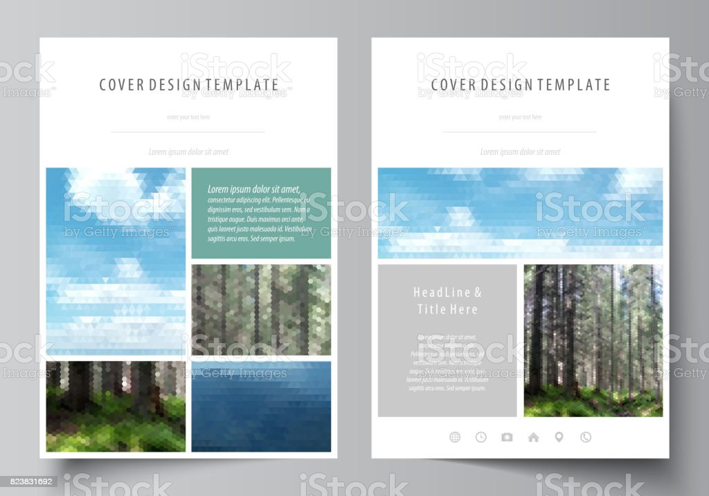 templates for brochure magazine flyer booklet or annual report cover