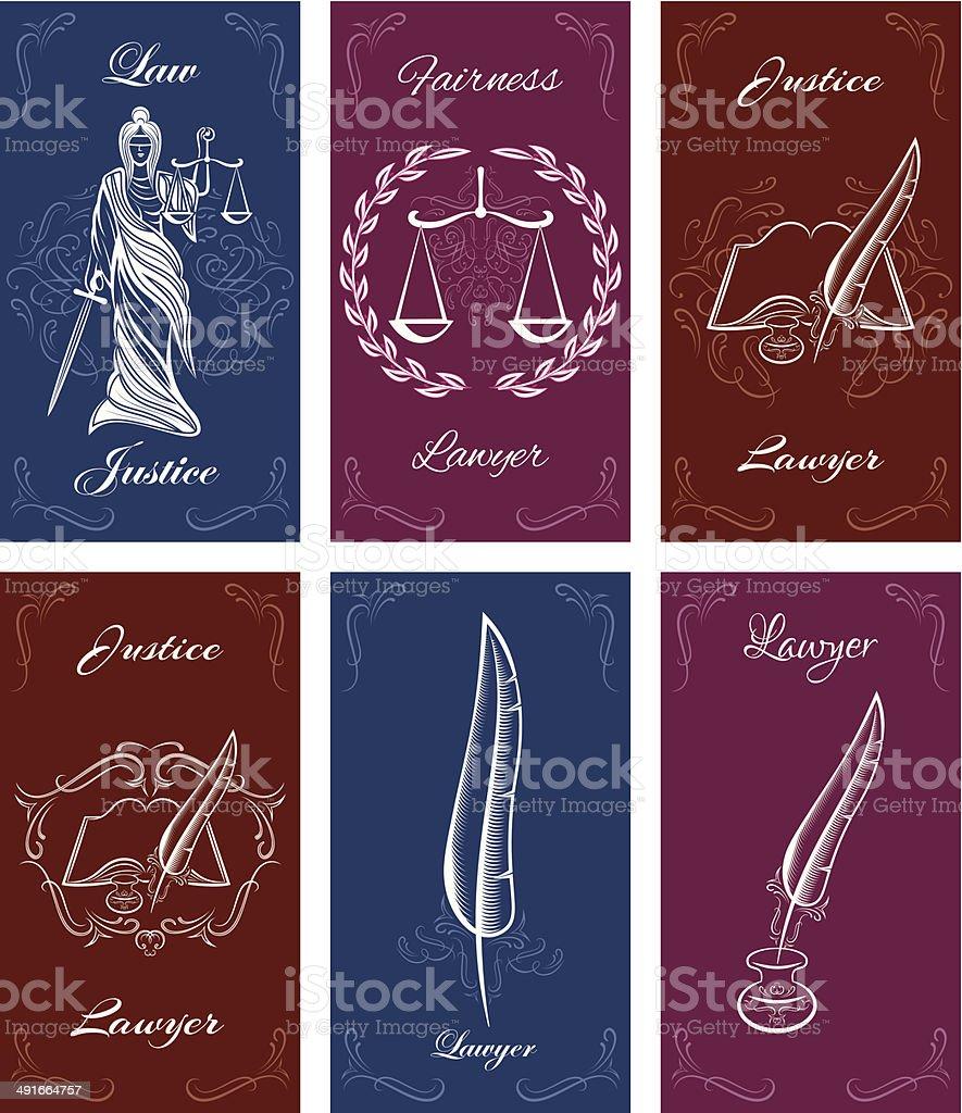 Ilustración de Plantillas De Tarjetas De Visita En Derecho y más ...