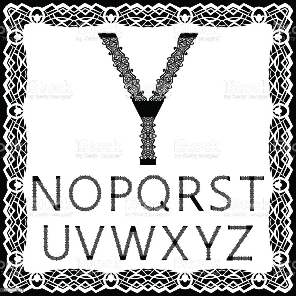 Templates For Cutting Out Letters Full English Alphabet May Be Used
