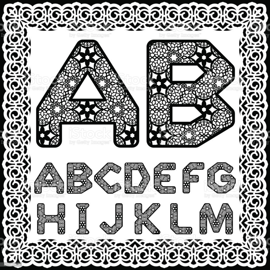Templates For Cutting Out Letters Full English Alphabet May Be Used ...