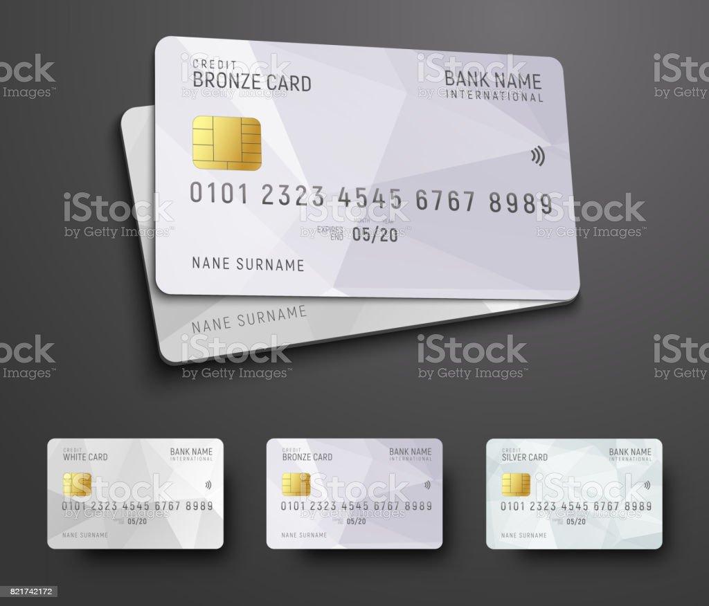 Vorlagen Für Die Gestaltung Einer Bank Kreditkarte Mit Einem ...