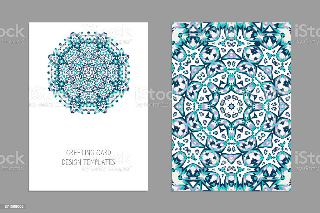 Modles De Voeux Et Cartes Visite Brochures Ornement Nol Motif Oriental