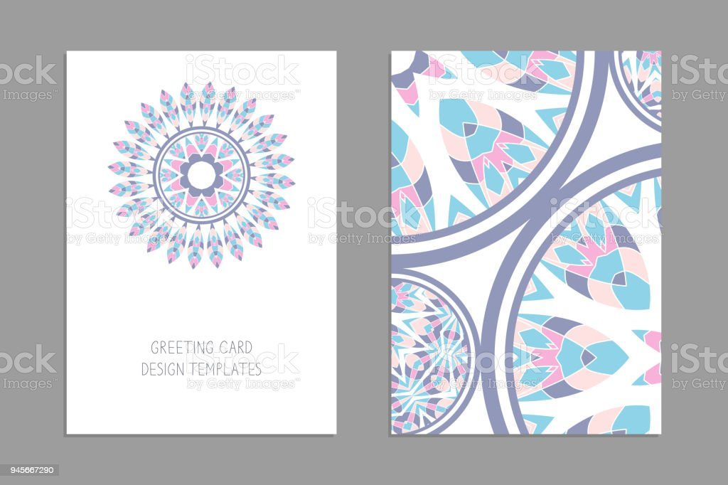 Templates for greeting and business cards brochures covers with save templates for greeting and business cards brochures covers with floral motifs oriental pattern accmission Gallery