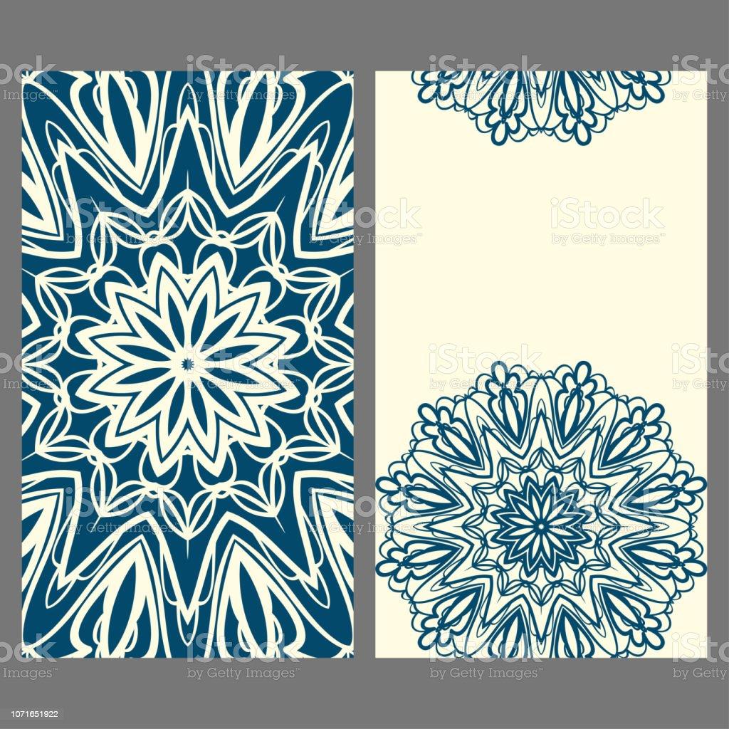 Vorlagen Für Gruß Und Visitenkarten Vektorillustration