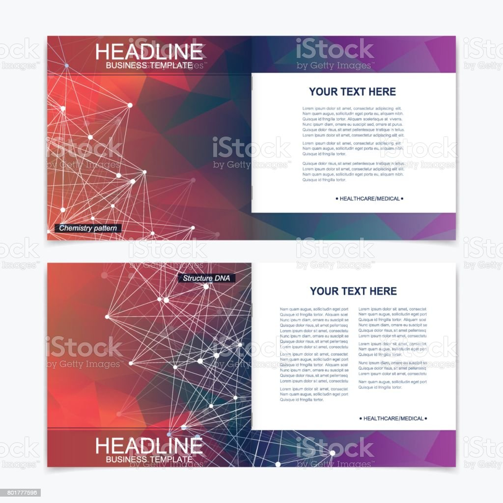 Business Book Cover Art ~ Templates for square brochure leaflet cover presentation