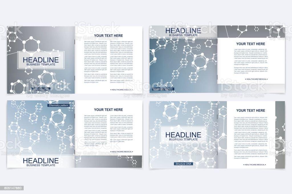 Templates for square brochure. Leaflet cover presentation. Business,...