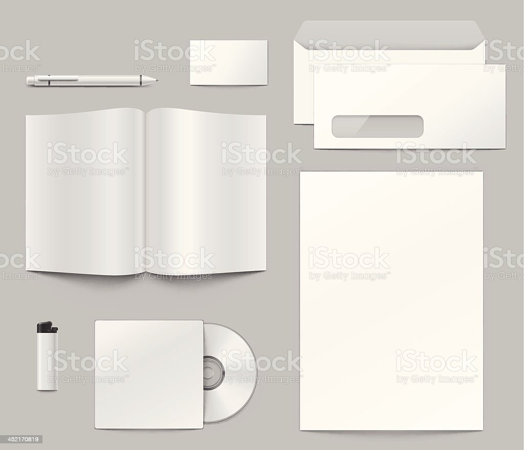Templates of corporate identity elements. royalty-free stock vector art