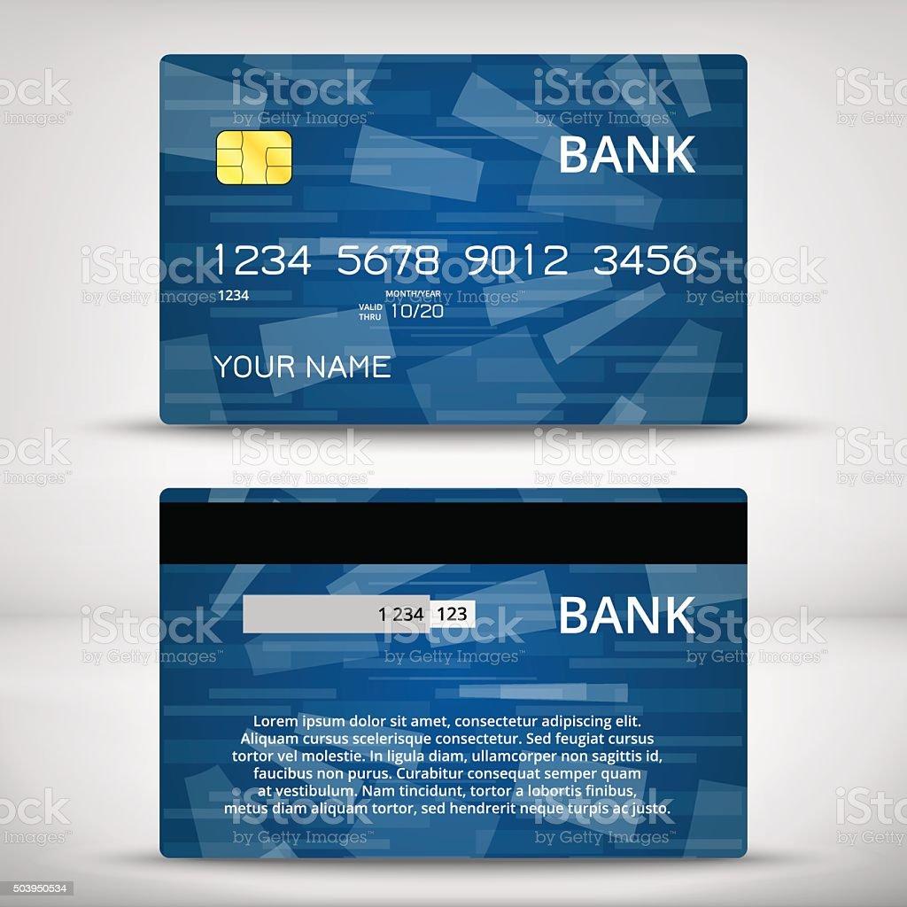 Vorlagen Von Kreditkartendesign Vektor Illustration 503950534 | iStock