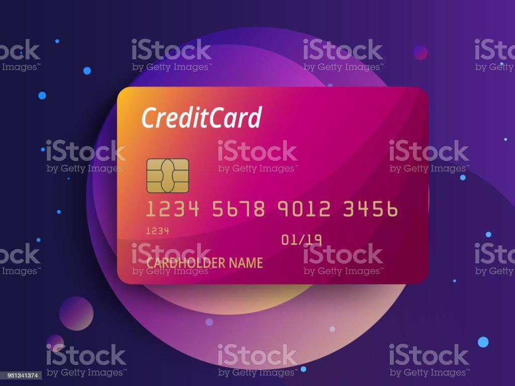 Ilustración de Plantillas De Diseño De Tarjetas De Crédito Vector ...