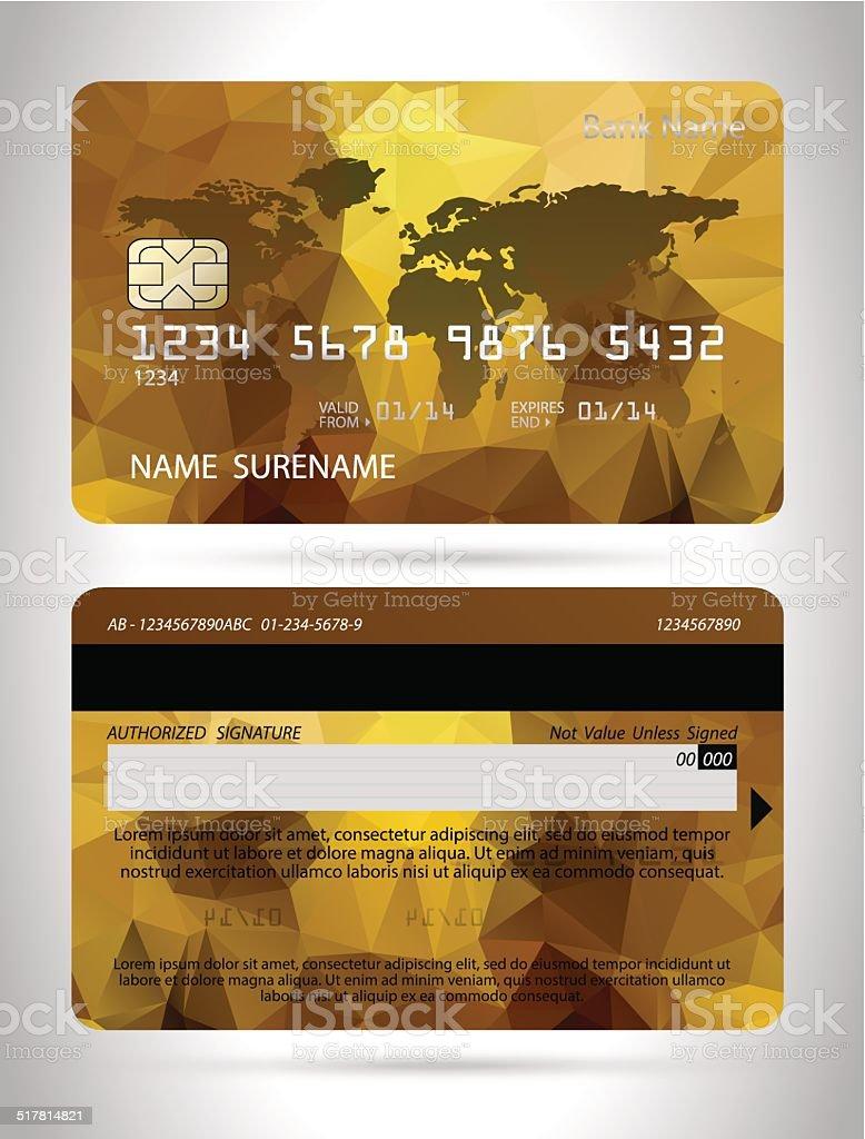 Vorlagen Von Kreditkartendesign Mit Polygon Hintergrund Stock ...