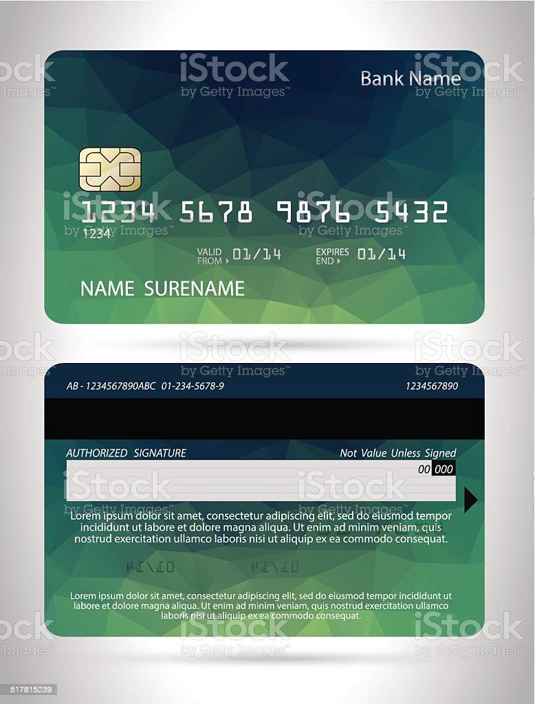 Vorlagen Von Kreditkartendesign Mit Polygon Hintergrund Vektor ...