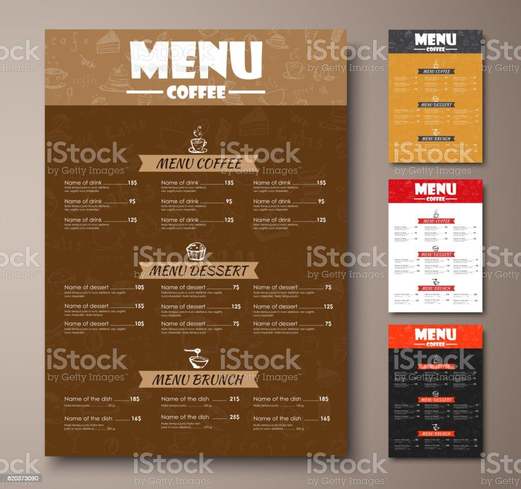 Templates of different colors coffee menu with hand drawings templates of different colors coffee menu with hand drawings - arte vetorial de stock e mais imagens de afixar cartaz royalty-free