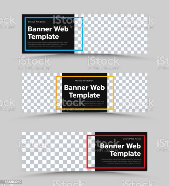 Templates of vector black web banners of standard size with a place vector id1153363949?b=1&k=6&m=1153363949&s=612x612&h=5hynotjba5tj0km06op0wri81wne jptxla5h4f7qna=
