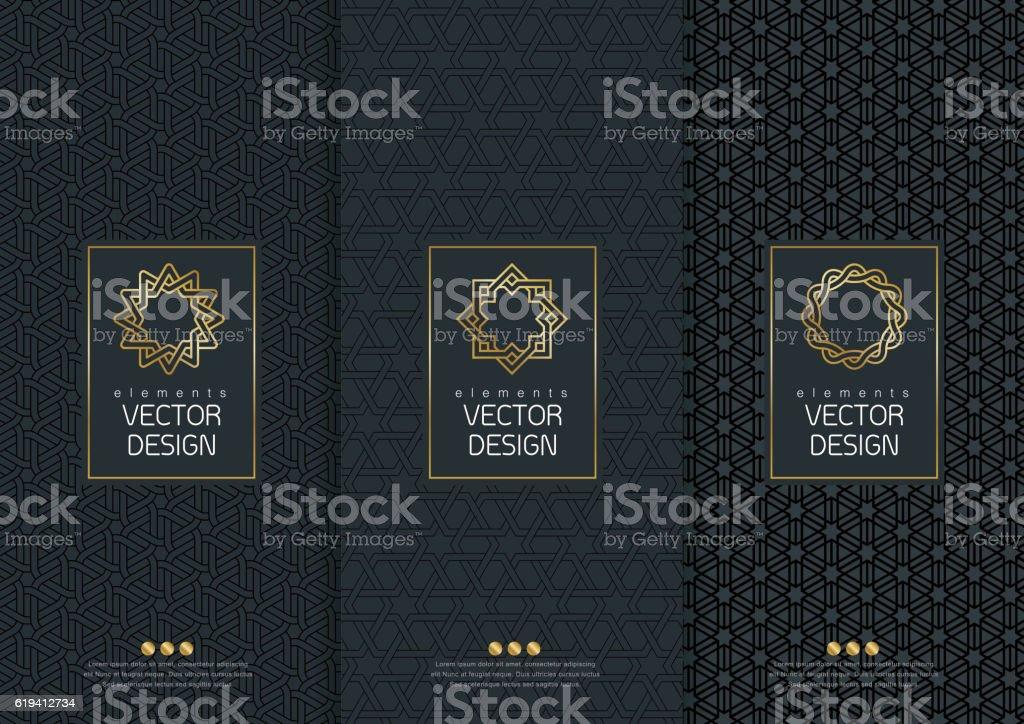 Vorlagen Verpackung – Vektorgrafik