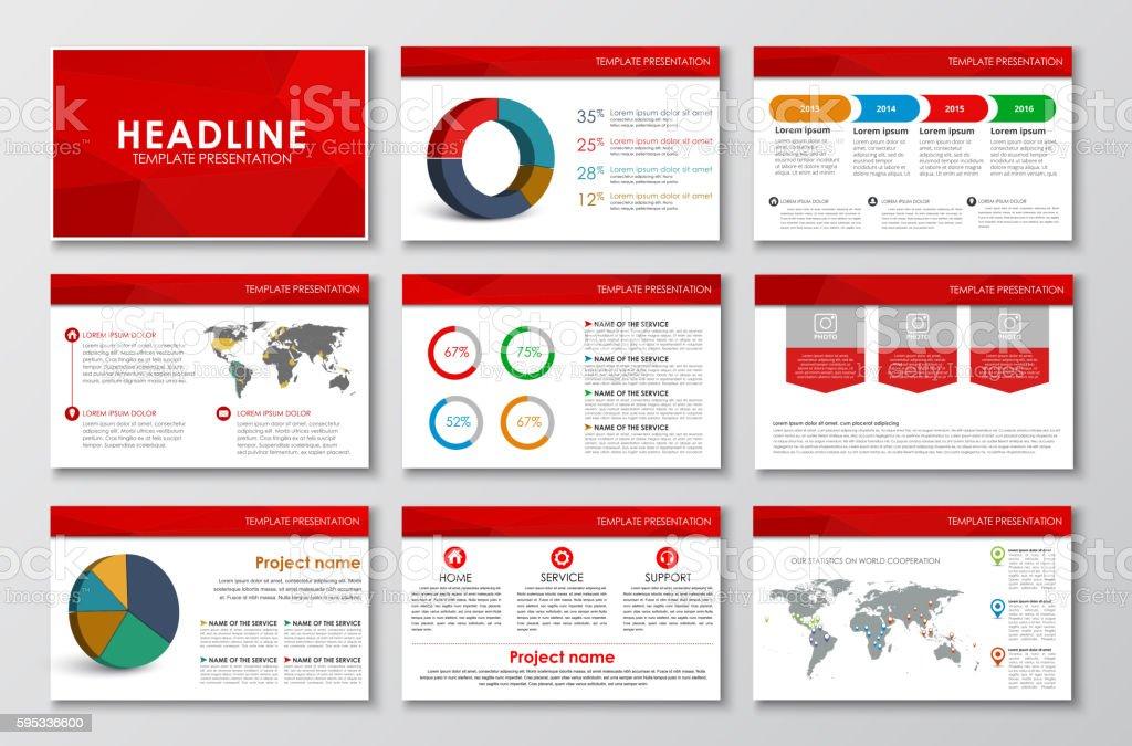 templates polygonal slides for presentations stock vector art