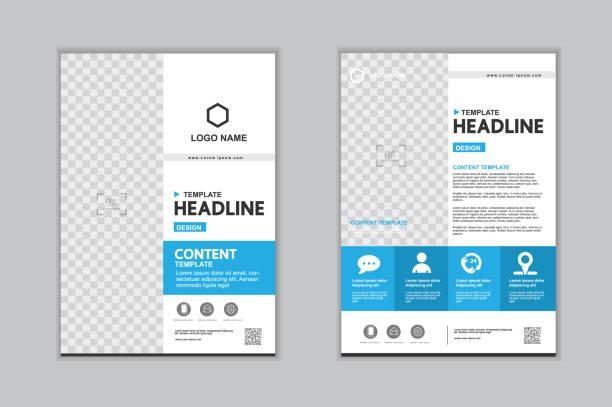 Vorlagen-Präsentation für Geschäftsbericht, Flyer, Werbung, Broschüre, Broschüre, Unternehmensbericht. Vektor-Design. – Vektorgrafik