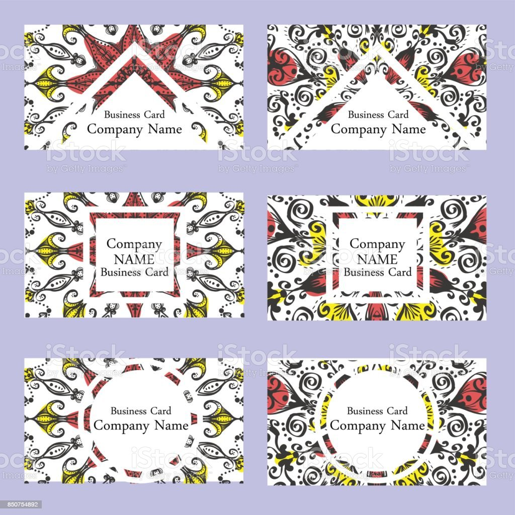 Vorlagenset Visitenkarten Einladungen Und Banner Blumen ...