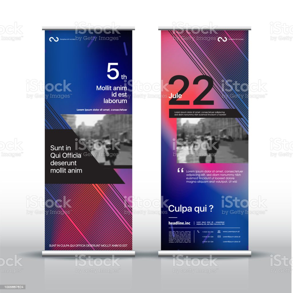 Templates With Banner Design Signboard Advertising Brochure Flyer