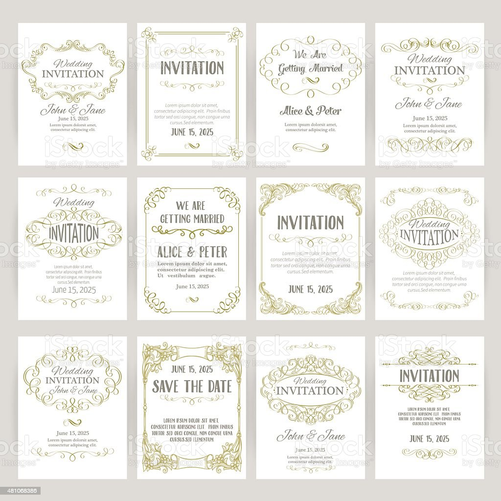 templates with banners vintage design elements vector art illustration