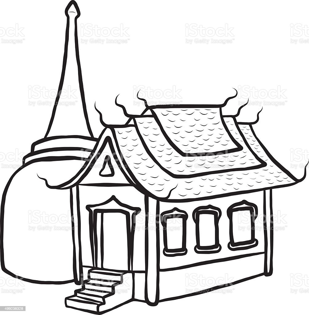 Temple And Pagoda Royalty Free Stock Vector Art Amp More Images