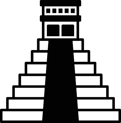 Temple of Kukulcan El Castillo vector color icon design, Chichen Itza concept, Mexican culture symbol on White background, Customs and Traditions Signs, cinco de Mayo federal holiday elements